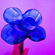 Blue Glass Purple Wall Pink Hand Art Print