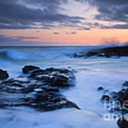 Blue Hawaii Sunset Art Print
