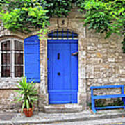 Blue In Provence France Art Print