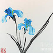 Blue Iris I Art Print