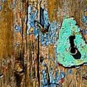 Blue Keyhole Art Print