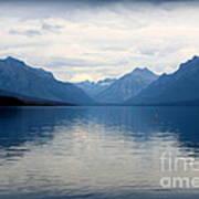 Blue Lake Mcdonald Art Print