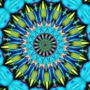 Blue Mandela 102311 Art Print
