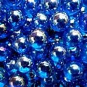 Blue Marbles Art Print