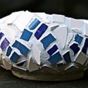Blue Mosaic Bowl Art Print by Ghazel Rashid
