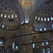 Blue Mosque Interior Art Print