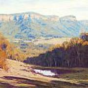 Blue Mountains Paintings Art Print
