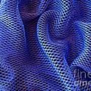 Blue Net Background Art Print by Carlos Caetano
