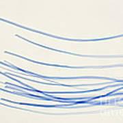 Blue Nylon Fibers Art Print