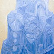 Blue Pagan Church Art Print
