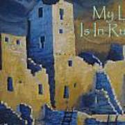 Blue Palace Greeting Card Art Print