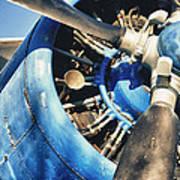 Blue Plane - Antonov 2 Art Print