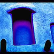 Blue Portals Art Print