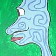 Blue Profile Art Print