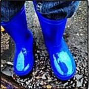 Blue Rain Boots Art Print