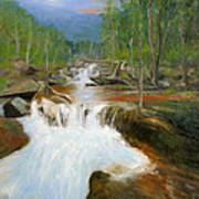 Blue Ridge Runoff Art Print by Max Mckenzie