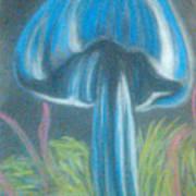Blue Shroom Art Print