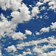 Blue Sky And Clouds Art Print