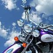 Blue Sky Harley Art Print