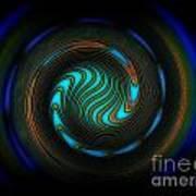 Blue Spiral Art Print
