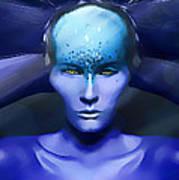 Blue Star Art Print by Yosi Cupano