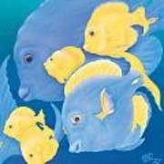 Blue Tango Art Print