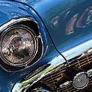 Blue Thunder - Classic Antique Car- Detail Art Print