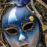 Blue Venetian Mask Art Print