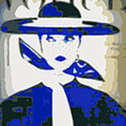 Blue Vogue Art Print