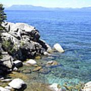 Blue Waters Of Lake Tahoe Art Print