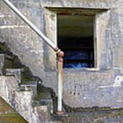 Blue Window Bunker Art Print