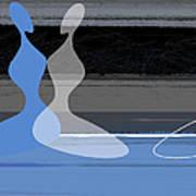 Blue Women Art Print