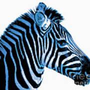 Blue Zebra Art Art Print by Rebecca Margraf