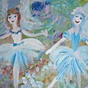 Blueberry Fairies Art Print
