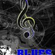 Blues Music Poster Art Print