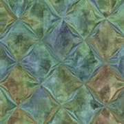 Bluetone Diamonds Art Print