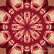 Blushing Flower Kaleid Art Print