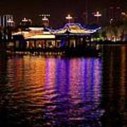 Boat Cruise On Guilin River Art Print