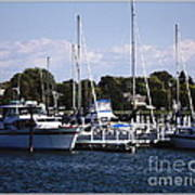 Boat Harbor In Dunkirk New York Art Print
