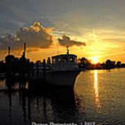 Boat Sunset Art Print