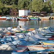 Boating Lake Art Print