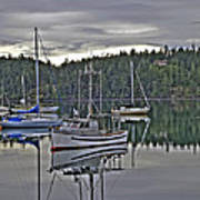 Boating Reflections Art Print