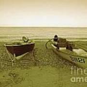Boats At Beesands Art Print
