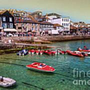 Boats At St Ives  Art Print