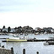 Boats In Harbor Water Art Print