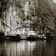 Boats On Halong Bay 1 Art Print