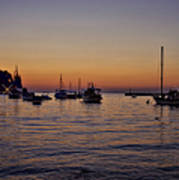 Boats On The Adriatic Sea Art Print