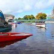 Boats On The Garavogue Art Print