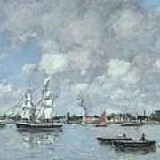 Boats On The Garonne Art Print