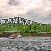 Boats Under Bridge Art Print